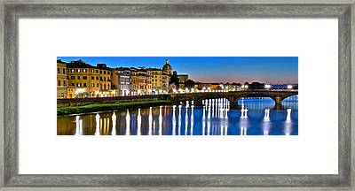Panoramic Florence Italy Framed Print by Frozen in Time Fine Art Photography