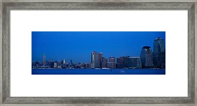 Panoramic Night View Of Empire State Framed Print by Panoramic Images