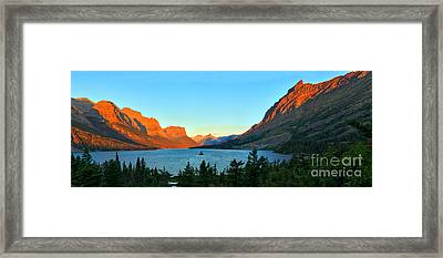 Panoramic Saint Mary Sunrise Framed Print by Adam Jewell