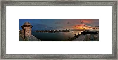 Panoramic View Of Havana From La Cabana. Cuba Framed Print by Juan Carlos Ferro Duque