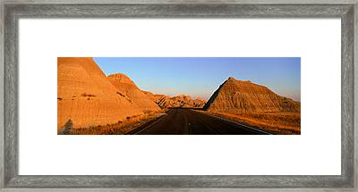 Panoramic View Of Road Going Framed Print by Panoramic Images