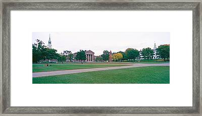 Panoramic View Of The Campus Framed Print by Panoramic Images