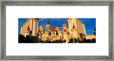 Panoramic View Of The Excalibur Hotel Framed Print by Panoramic Images