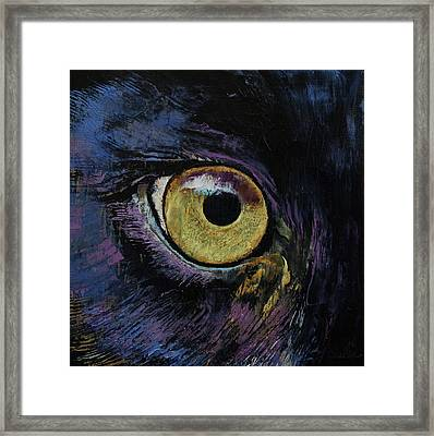 Panther Eye Framed Print by Michael Creese