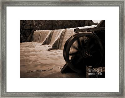 Panther Valley Water Wheel Framed Print by Fred Lassmann