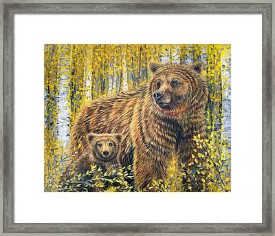 Papa Bear Framed Print by Teshia Art