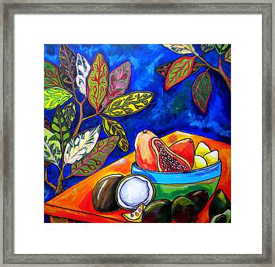 Papaya Morning Framed Print by Patti Schermerhorn