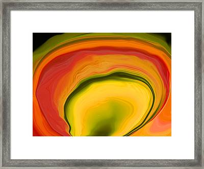 Papaya4 Framed Print by Linnea Tober