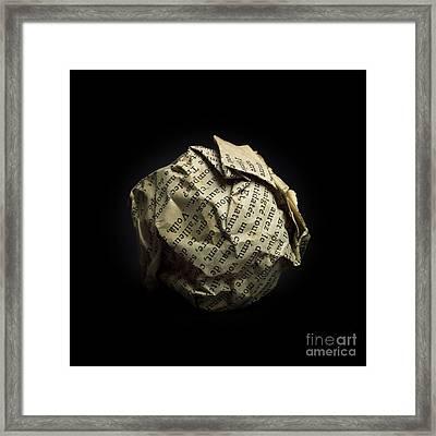 Paper Framed Print by Bernard Jaubert