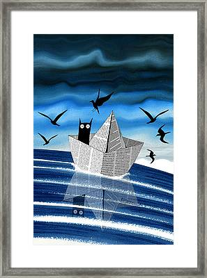 Paper Boat  Framed Print by Andrew Hitchen