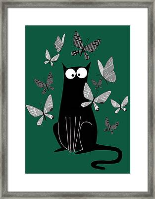 Paper Butterflies  Framed Print by Andrew Hitchen