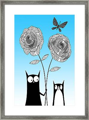 Paper Flowers Framed Print by Andrew Hitchen