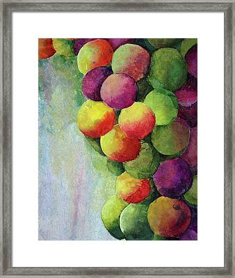 Paper Grapes Framed Print by Diane Fujimoto