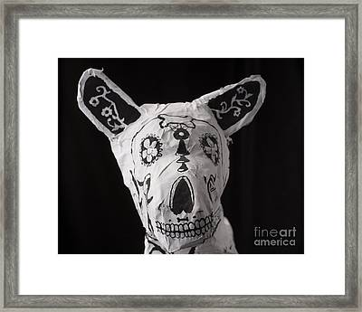 Paper Mache Dog Framed Print by Caffrey Fielding