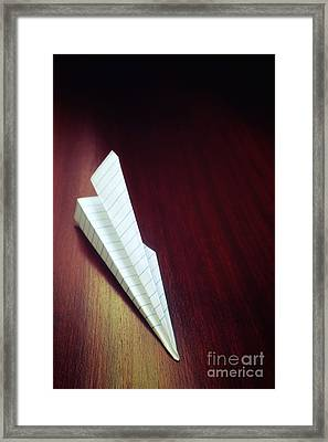 Paper Plane Toy Framed Print by Carlos Caetano