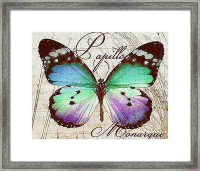 Papillon Blue Framed Print by Mindy Sommers