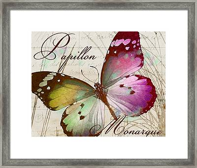Papillon Pink Framed Print by Mindy Sommers