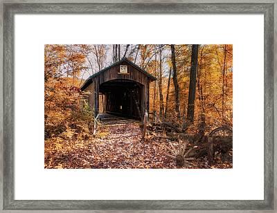 Pappy Hayes Covered Bridge Framed Print by Tom Mc Nemar
