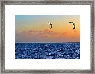 Para-surfing In Key West 003 Framed Print by George Bostian
