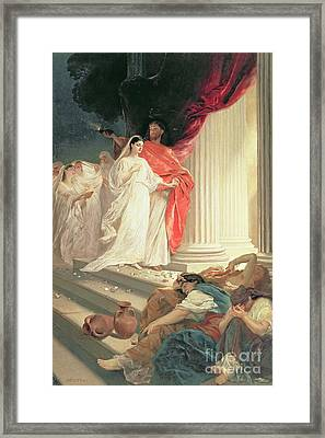 Parable Of The Wise And Foolish Virgins Framed Print by Baron Ernest Friedrich von Liphart