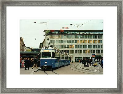 Paradeplatz Zurich Framed Print by Susanne Van Hulst