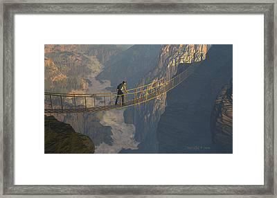 Paradigm Of Faith Framed Print by Dieter Carlton