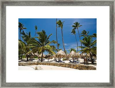 Paradise Beach Framed Print by Sebastian Musial