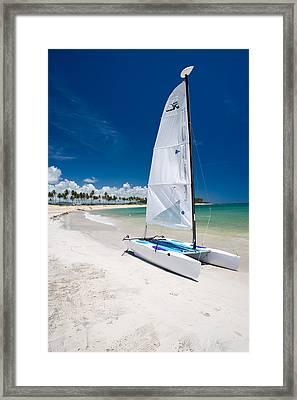 Paradise Island Framed Print by Sebastian Musial