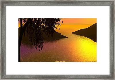 Paradise Island Framed Print by Wayne Bonney