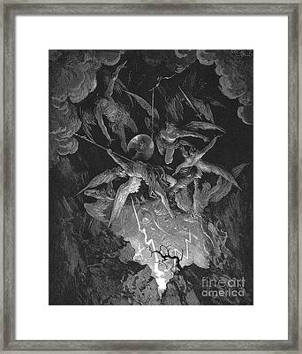 Paradise Lost  The Fall Of Man Framed Print by Gustave Dore