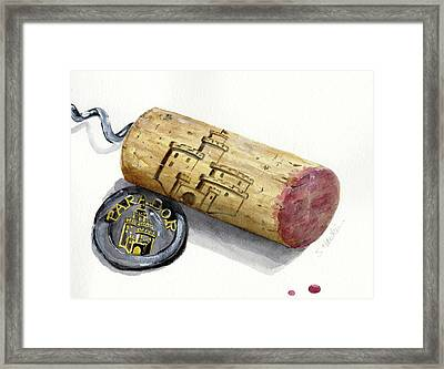 Parador Wine Cork Framed Print by Sheryl Heatherly Hawkins