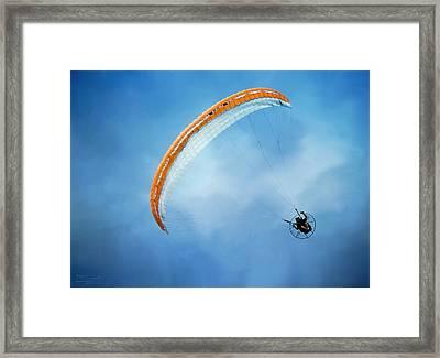 Paramotoring Framed Print by Theresa Campbell