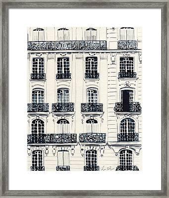 Paris Apartments Haussman Architecture Framed Print by Laura Row