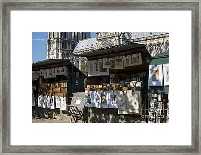 Paris Booksellers Framed Print by Juli Scalzi