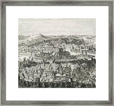 Paris Circa 1610. 19th Century Copy Of Framed Print by Vintage Design Pics