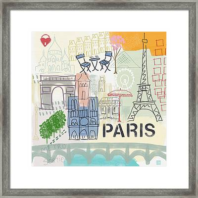 Paris Cityscape- Art By Linda Woods Framed Print by Linda Woods