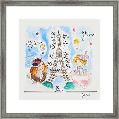 Paris Girls Framed Print by John Keaton