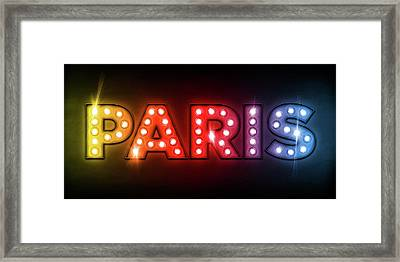 Paris In Lights Framed Print by Michael Tompsett