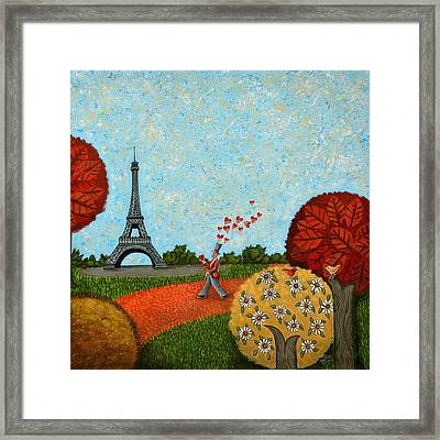 Paris Je T Aime Framed Print by Graciela Bello