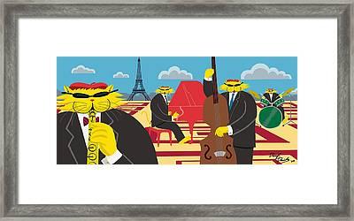 Paris Kats - The Coolkats Framed Print by Darryl Glenn Daniels