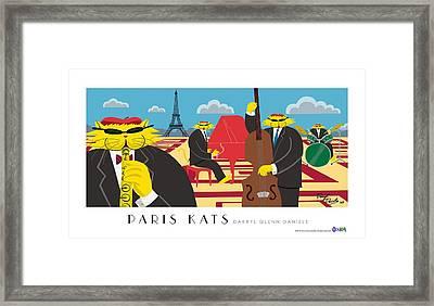 Paris Kats Framed Print by Darryl Glenn Daniels