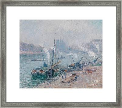 Paris Le Port Henri Iv Framed Print by Celestial Images