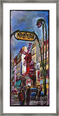 Paris Mulen Rouge Framed Print by Yuriy  Shevchuk