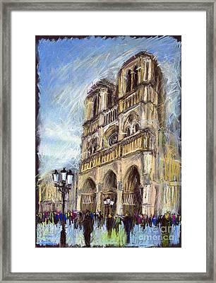 Paris Notre-dame De Paris Framed Print by Yuriy  Shevchuk