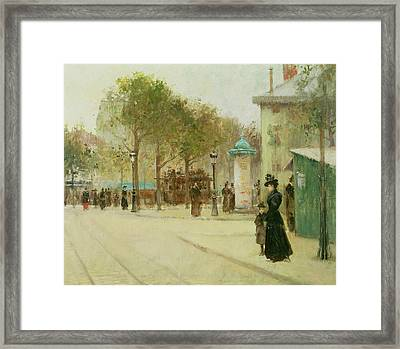 Paris Framed Print by Paul Cornoyer
