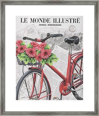 Paris Ride 2 Framed Print by Debbie DeWitt
