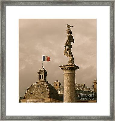 Paris Rooftops II Framed Print by Louise Fahy