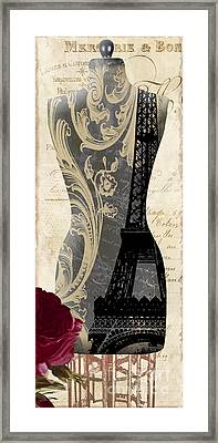 Paris Seamstress II Framed Print by Mindy Sommers