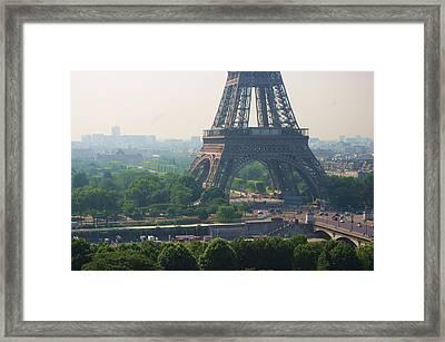 Paris Tour Eiffel 301 Pollution, Pollution Framed Print by Pascal POGGI