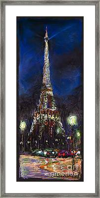 Paris Tour Eiffel Framed Print by Yuriy  Shevchuk